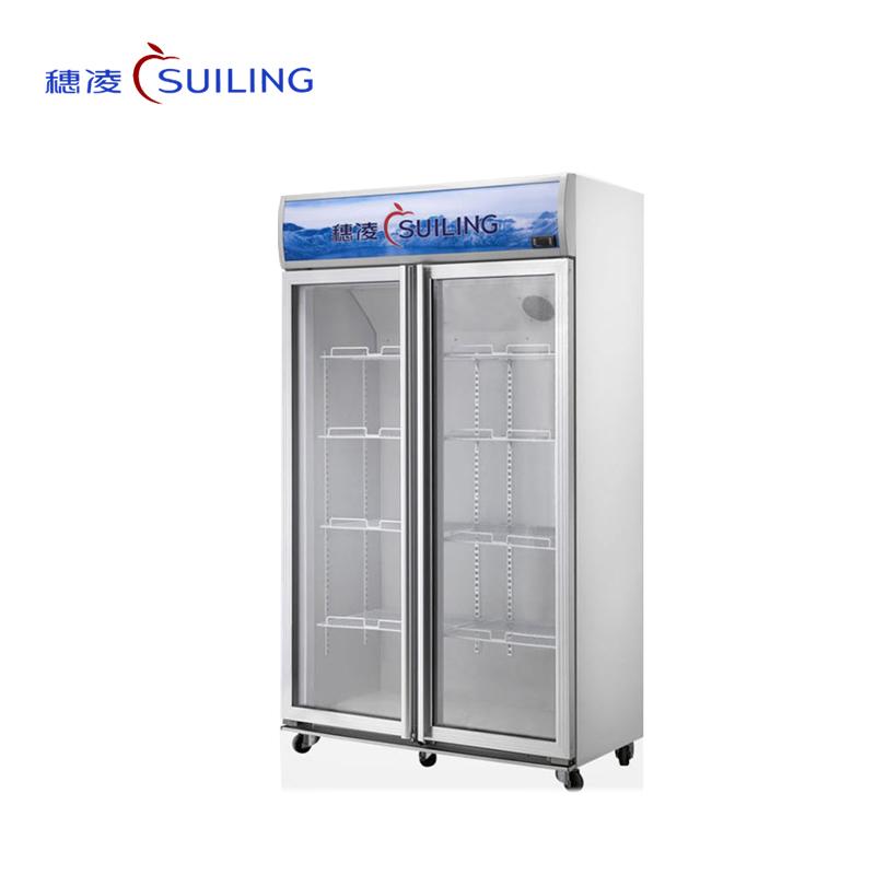 穗凌 LG4-682M2F/882M2F冰柜商用超市冷藏保鲜展示柜对开门冷柜陈列柜(LG4-682M2F)