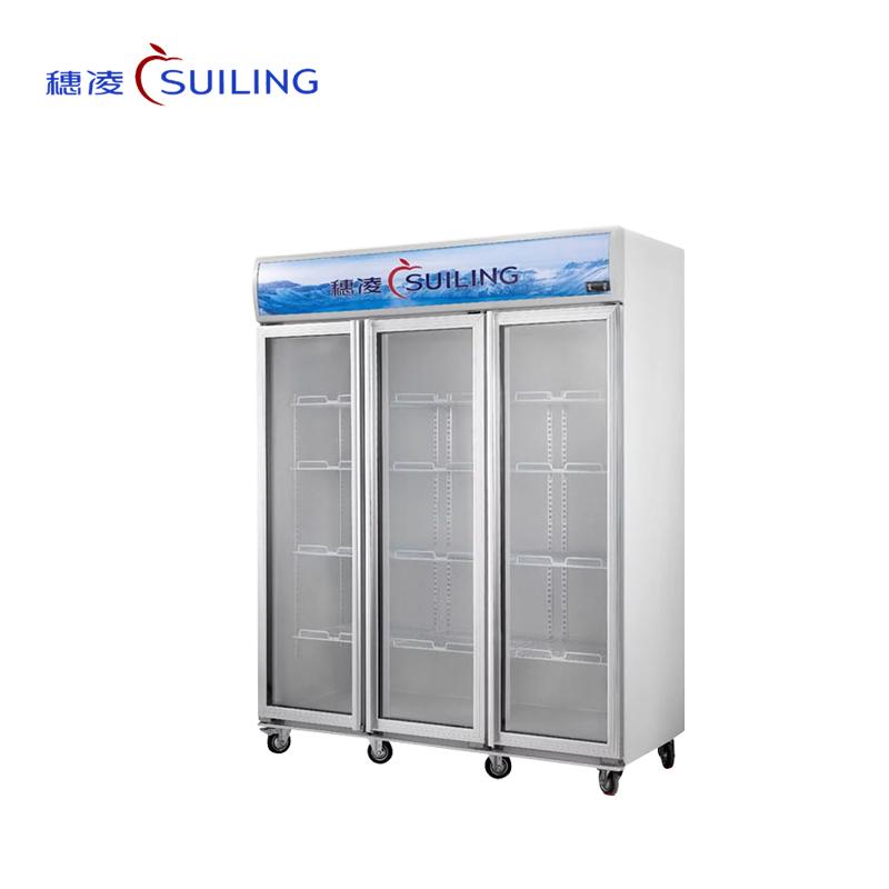 穗凌 LG4-682M2/882M2/1000M3/1200M3冰柜立式展示柜双玻璃门雪柜饮料茶叶柜商用冷柜(LG4-1000M3)
