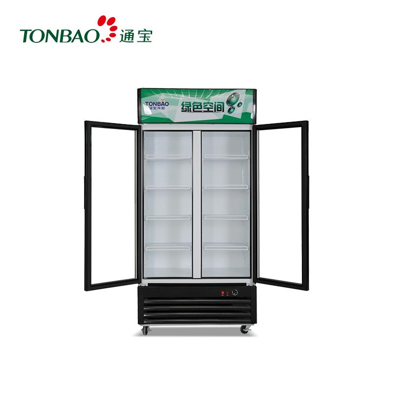 TONBAO/通宝LG4-518/618/828直冷立式对开门 保鲜冷藏展示柜 商用啤酒柜(LG4-618直冷)