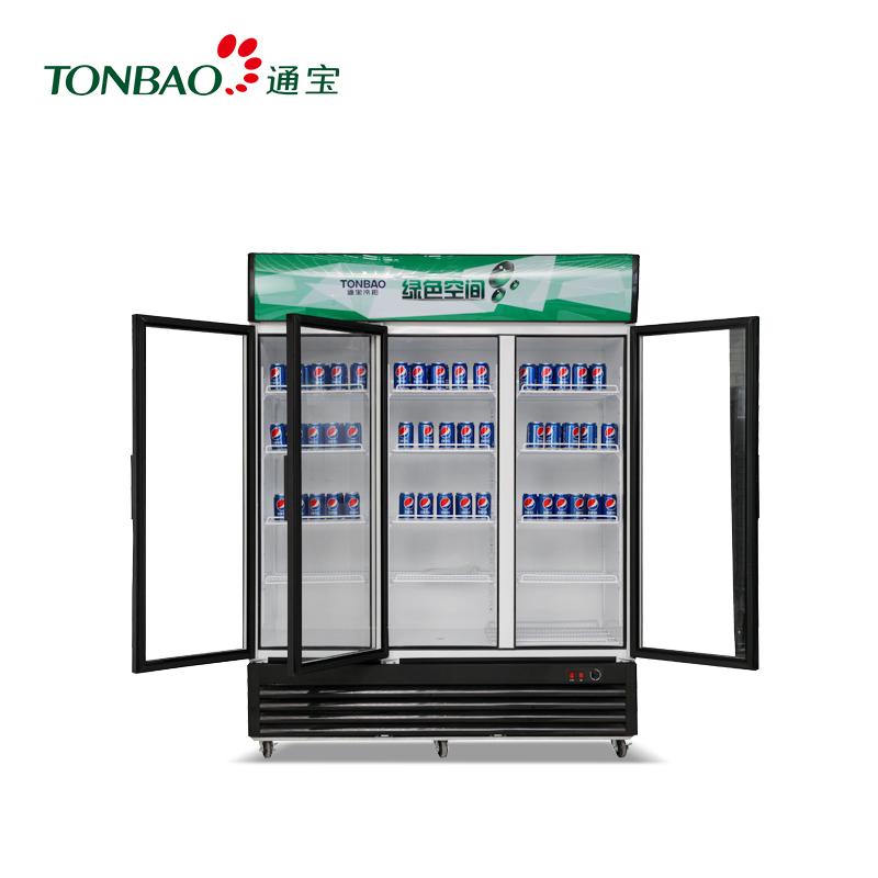 TONBAO/通宝LG4-1138直冷立式三门 保鲜柜 冷藏展示柜 商用啤酒柜(LG4-1138直冷)
