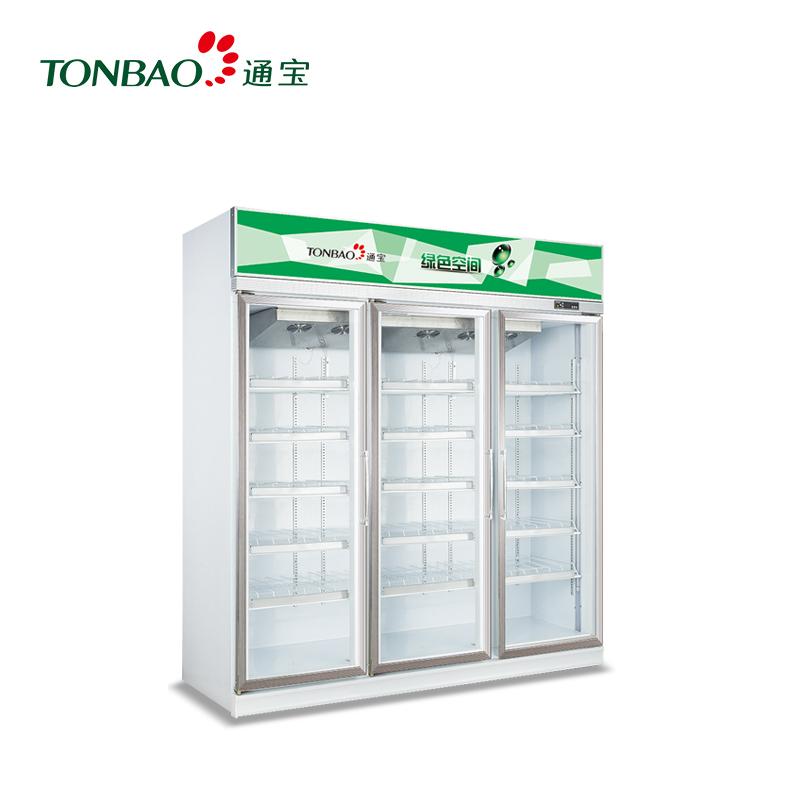 TONBAO/通宝LG4-508FL/1050FL/1650FL豪华铝合金门立式风冷展示柜饮料冰柜商用(LG4-1650FL阴凉柜)