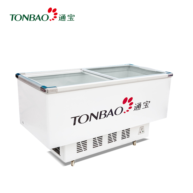 TONBAO/通宝SD/C-378/488/639/839 卧式玻璃门冷柜 冻肉保鲜冰柜 岛式展示柜(SD/C-839)