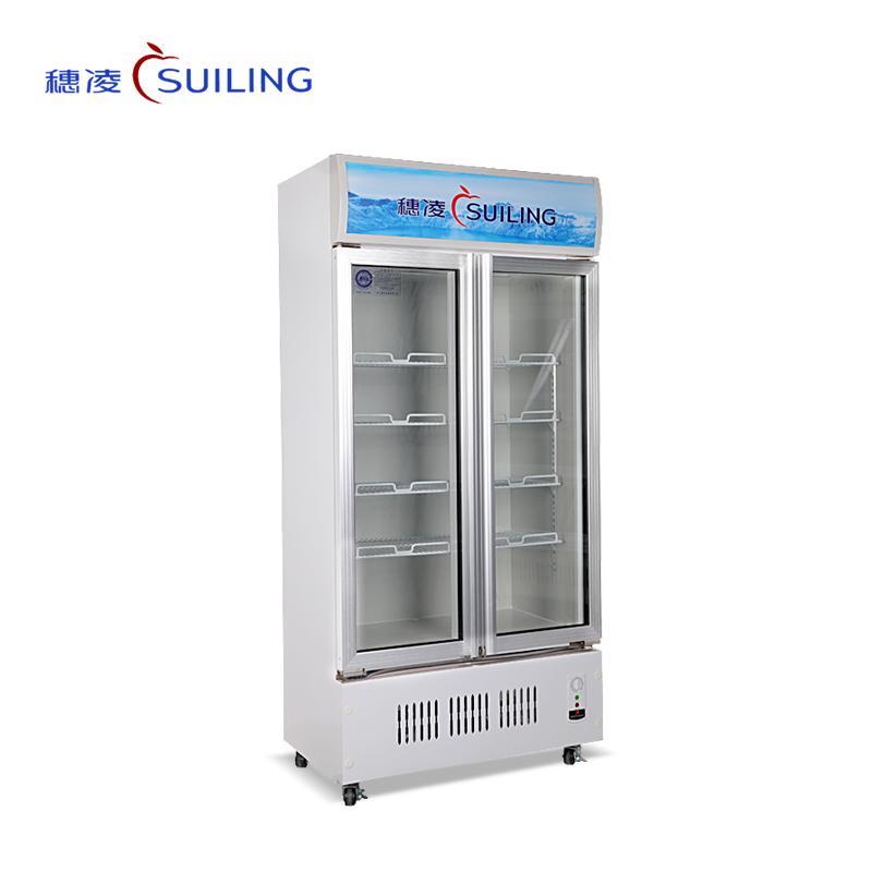 穗凌 LG4-398M2/488M2冰柜立式单温冷藏玻璃双门保鲜饮料冷柜商用展示柜(LG4-488M2)