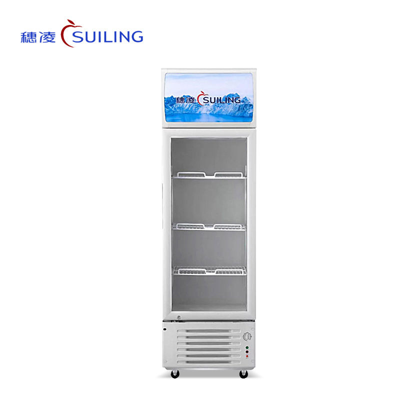 穗凌LG4-209/259/319LT商用单温直冷展示冰柜 玻璃门饮料柜 冷藏保鲜立式单门冰柜(LG4-209LT)