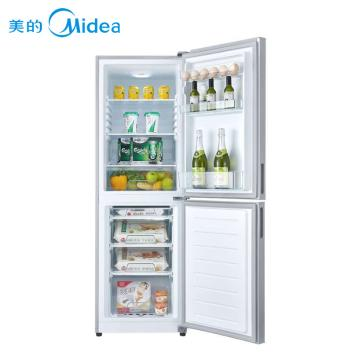 美的冰箱BCD-168M,美的极光银两门直冷家用冰箱,节能环保,送货楼下,现价1999元,下单立减!(BCD-168M)