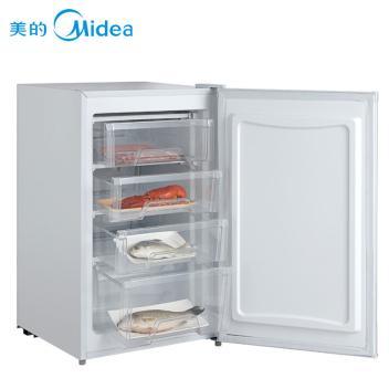 美的 Midea BD-81UMA 81升 家用 立式冷柜 节能省电 时尚花纹(城市几何)(BD-81UMA 白色)