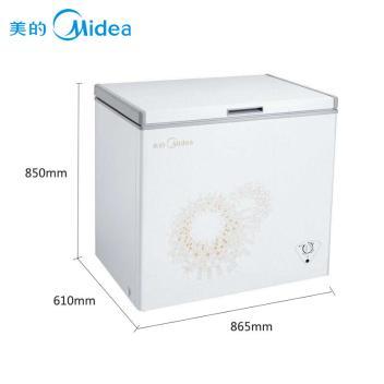 美的(Midea)BD/BC-197KMA 197升 卧式单温一室 冷冻冷藏转换冰柜 顶开商用冷柜 旋律金(BD/BC-197KMA 旋律金)