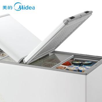 美的(Midea)BD/BC-265VEM 265升 卧式 单温冰柜 冷冻冷藏转换家用冰柜 商用冷柜 旋律金(BD/BC-265VEM 旋律金)