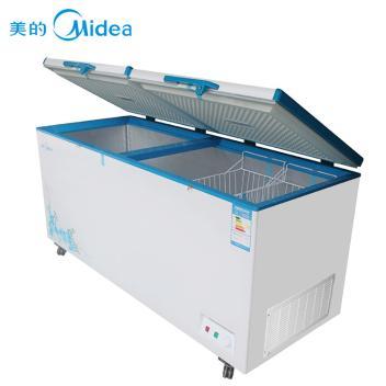 美的(Midea)BD/BC-568DKM 568升 卧式单温大冷柜 冷藏冷冻 顶开门商用双门冰柜 白色(BD/BC-568DKEM 白色)