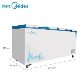 美的(Media)BD/BC-768DKM 768升 卧式冷柜单温一室冷冻冷藏转换柜 双压缩机商用冷冻冷藏柜 白色(BD/BC-768DKM 白色)