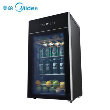 美的(Midea)JC-96GEM 凡帝罗冰吧 96升红酒柜 家用茶叶柜 冰柜 办公室水果冷柜 黑色酷吧 冷柜(JC-96GEM 黑色)