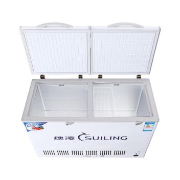 穗凌(SUILING)BCD-386 386升卧式顶盖门双温双室冷冻冷藏柜急冻鲜肉柜饮料冷柜(BCD-386)