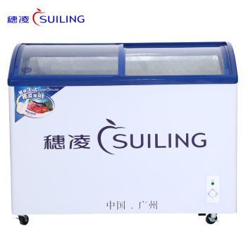 穂凌(SUILING)WD4-291H 291升单温弧面钢化玻璃门冷冻展示柜,急冻速冻雪糕柜(WD4-291H)(WD4-321H)