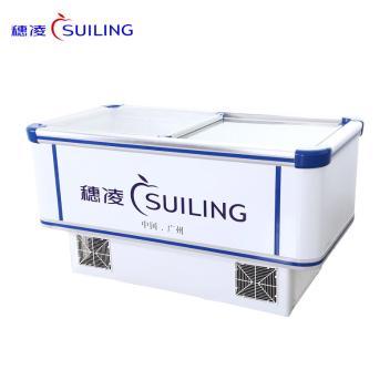 穗凌(SUILING)WD4-750 750升单温冷冻卧式平移玻璃门大容量岛柜 海鲜冷冻展示柜 商用大容量岛柜(WD4-750)(WD4-750)