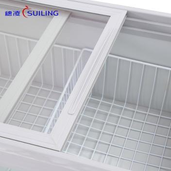 穗凌(SUILING)WG4-249DS 249升小海狮单温卧式冷藏玻璃门台式展示海鲜冰柜夜宵烧烤配菜展示冷柜(WG4-249DS)(WG4-249DS)