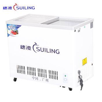 穗凌(SUILING)WT4-226 226升卧式平移玻璃门冷冻冷藏双温双室冰柜雪糕饮料冷柜 超市商用展示柜(WT4-226)(WT4-266)