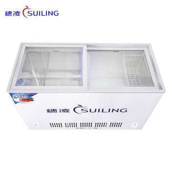 穗凌(SUILING)WT4-508II 508升卧式平移玻璃门冷冻冷藏双温双室冰柜雪糕饮料冷柜 超市商用展示柜(WT4-508II)(WT4-508II)