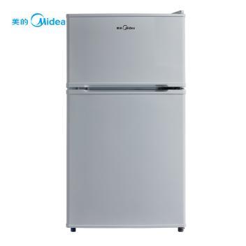 美的(Midea)BCD-88CM  88升家用两门迷你冰箱冷冻冷藏双室双温区冰箱 小身材大容量冰箱【图片 品牌 报价】 -赞冰易购(BCD-88CM 灰色)