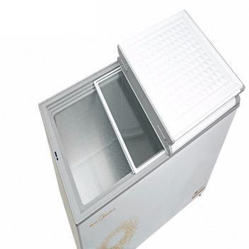 美的(Midea)BCD-201VEM 201升蝶形门双门双温冷冻冷藏卧式冷柜 冷冻冷藏冰鲜 一柜双温节能环保,静音 旋律金【图片 价格 品牌 报价】(BCD-201VEM 旋律金)