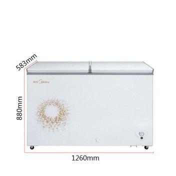 美的(Midea) BCD-269DKMA 269升 顶开双门双温冷藏冷冻卧式冷柜 强冷隔热技术节能双温冰柜【图片 价格 品牌 报价】(BCD-269DKMA 金色)