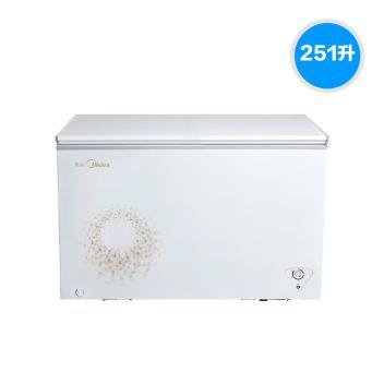 美的(Midea)BD/BC-251KMA 251升卧式顶开单门单温一室冷冻冷藏转换柜 家用商用冷柜/冰柜 内置货篮 旋律金【冷柜图片 冷柜价格 冷柜品牌 冷柜报价】(BD/BC-251KMA 旋律金)