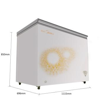 美的(Midea)BD/BC-295KM 295升卧式单温一室冷冻冷藏可转换冷柜 随心转换锁冷节能家用商用冰柜/冷柜【冷柜图片 冷柜价格 冷柜品牌 冷柜报价】(BD/BC-295KM 旋律金)